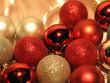 close-up of shimmering christmas balls
