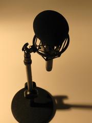 A recording studio microphone