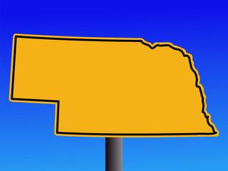 Nebraska warning sign