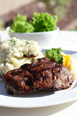Beef Steak and Mashed Potatoes