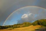 Fototapety Rainbow over Autumn field