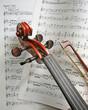 Leinwanddruck Bild - Geigenkopf
