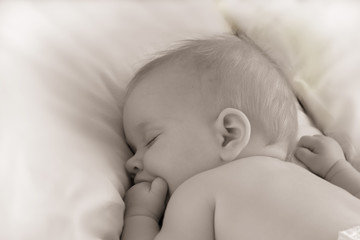 Sweet dreams of a baby