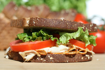 Healthy Turkey Sandwich Lunch
