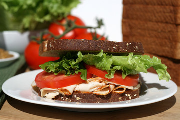 Turkey Sandwich - Healthy