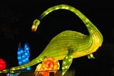 dinosaur lantern in the Chinese gardens poster