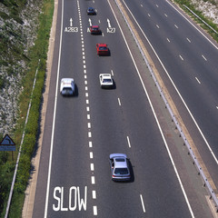 Traffic on Main Road at Shoreham, West Sussex, England