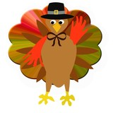 Thanksgiving turkey pilgrim poster