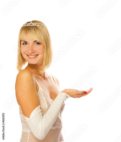 Beautiful princess with her hand outstretched
