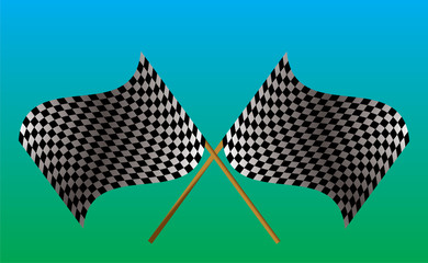 crossed checkered flag