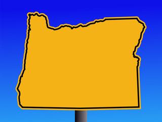 Oregon warning sign