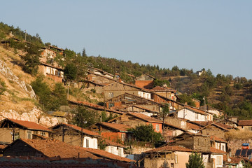 Houses near the castle, Tokat city, Turkey