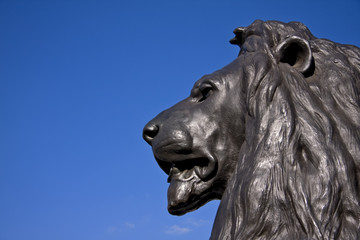 Bronze Lion, London UK