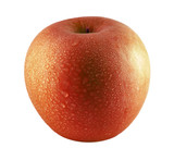 Red apple sprinkled with water poster