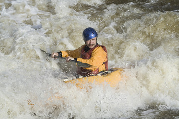 freestyle kayaker