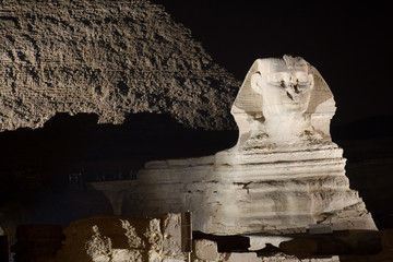 The Great Sphinx by Night - Giza Plateau