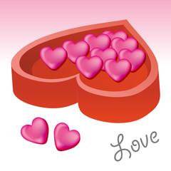 love shape chocolate