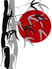 calligraphic bamboo zen