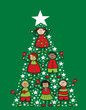 cartoon christmas tree kids