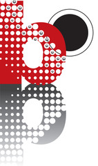 retro dots abstract zen alphabet design B