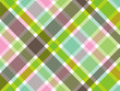 sweet green and pink diagonal plaid pattern