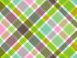 sweet green and pink diagonal plaid pattern