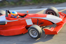 Red formula racing car