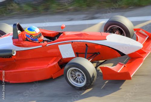 Foto op Canvas Snelle auto s Red formula racing car