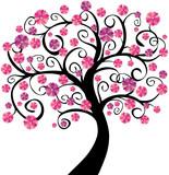 Fototapety Arbre en fleurs roses