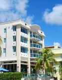 Art Deco style architecture in Miami Beach, Florida poster