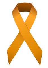 Ruban orange de lutte contre le racisme