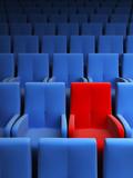 auditorium with one exclusive seat