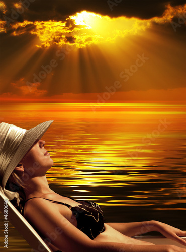 canvas print picture Magic sunset