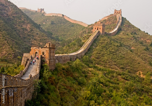 Tuinposter Chinese Muur Wall in sunshine