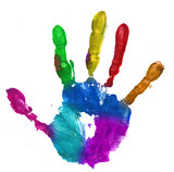 Fototapety multicolor hand print