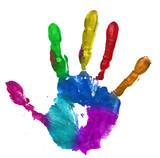 Fototapety multicolor hand print