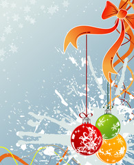 Abstract christmas background with snowflakes, vector
