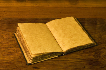 Open old diary or notebook.