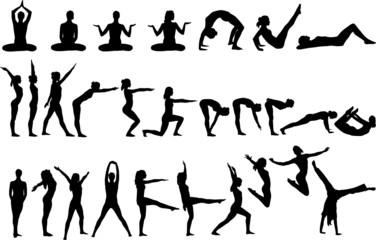 28 Yoga Silhouettes
