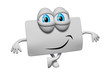 Cartoon 3d privilege card smiling