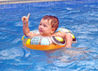 baby boy in the pool