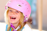 Laughing Girl in a Safety Helmet poster