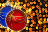 christmas bokeh poster
