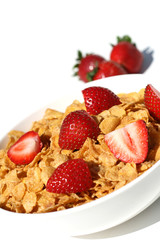 Healthy Breakfast - Corn Flakes & Berries