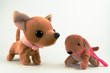 Leinwanddruck Bild a couple Soft toy dog