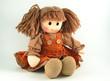 Leinwanddruck Bild - Fabric doll
