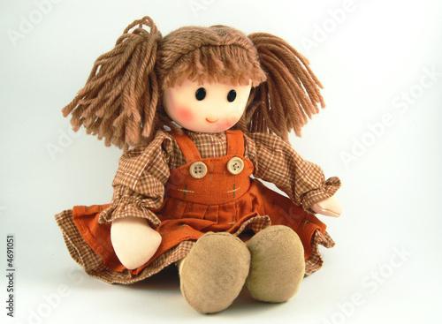 Leinwanddruck Bild Fabric doll