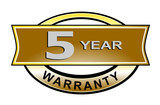5 year warranty seal belt poster