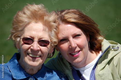 Mom and Gram at the park.