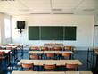 Salle de classe dans un lycée français.